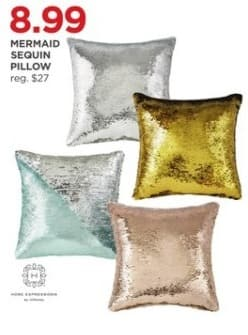 JCPenney Black Friday: Mermaid Sequin Pillow - Assorted Colors for $8.99