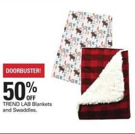Shopko Black Friday: TREND LAB Blankets and Swaddles - 50% Off