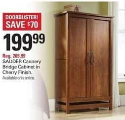 Shopko Black Friday: SAUDER Cannery Bridge Cabinet in Cherry Finish for $199.99