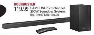 Shopko Black Friday: Samsung 2.1 channel 200W Soundbar System for $119.99