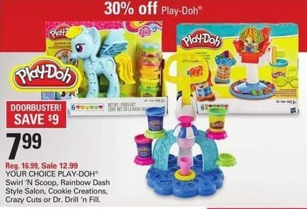 Shopko Black Friday: Play-Doh Swirl N Scoop, Rainbow Dash Style Salon, Cookie Creations & More for $7.99