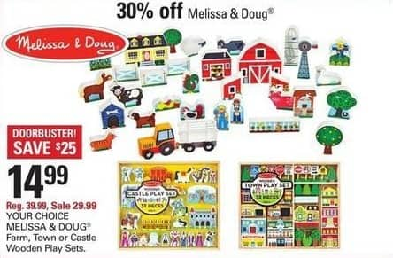 Shopko Black Friday: Melissa & Doug Farm, Town or Castle Wooden Play Sets for $14.99