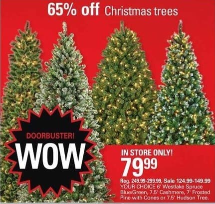 Shopko Black Friday: Christmas Trees - 65% Off