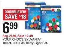 Shopko Black Friday: Sylvania 100-ct LED G15 Berry Light Set for $6.99