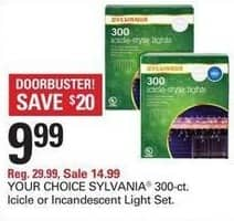 Shopko Black Friday: Sylvania 300-ct Icicle or Incandescent Light Set for $9.99