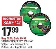 Shopko Black Friday: Sylvania 500-ct Incandescent or 250-ct LED Lights on Reel for $17.99