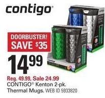 Shopko Black Friday: Contigo Kenton 16oz Thermal Travel Mug - 2 Pack for $14.99