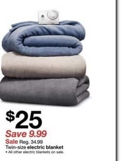Target Black Friday Twin Size Electric Blanket For 25 00 Slickdeals