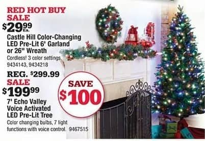 Ace Hardware Black Friday: 7' Echo Valley Voice Activated LED Pre-lit Chrsitmas Tree for $199.99