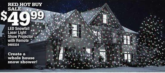 Ace Hardware Black Friday: LED Snowfall Laser Light Show Projector w/ Remote for $49.99