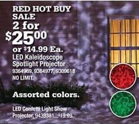 Ace Hardware Black Friday: (2) LED Kaleidoscope Spotlight Projector for $25.00
