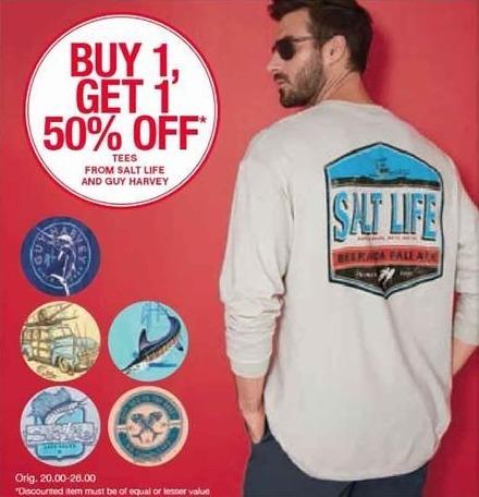 Belk Black Friday: Salt Life & Guy Harvey Tees for Him - B1G1 50% Off