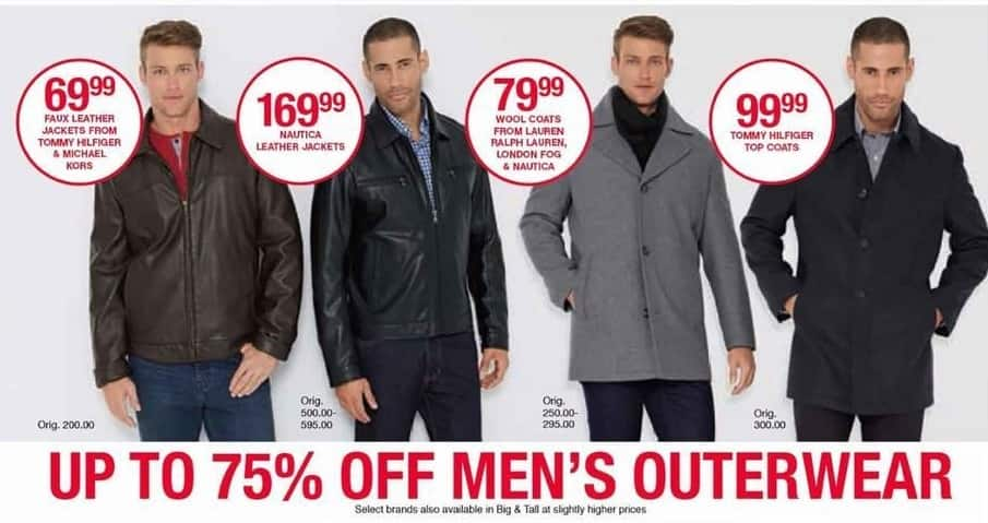 Belk Black Friday: Select Men's Outerwear - Up to 75% Off