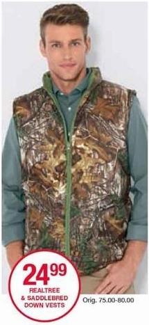 Belk Black Friday: Realtree & Saddlebred Down Vests for Him for $24.99