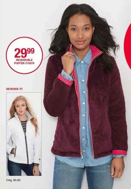 Belk Black Friday: Reversible Puffer Coats for Women for $29.99