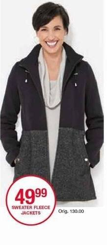 Belk Black Friday: Sweater Fleece Jackets for Her for $49.99