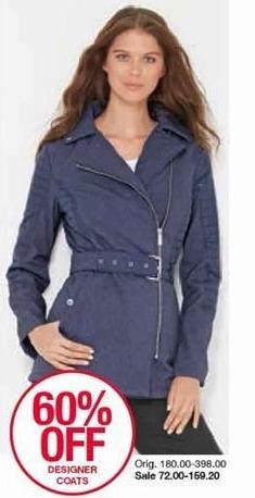Belk Black Friday: Designer Coats for Her - 60% Off