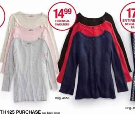 Belk Black Friday: New Directions Essential Sweaters for Her for $14.99