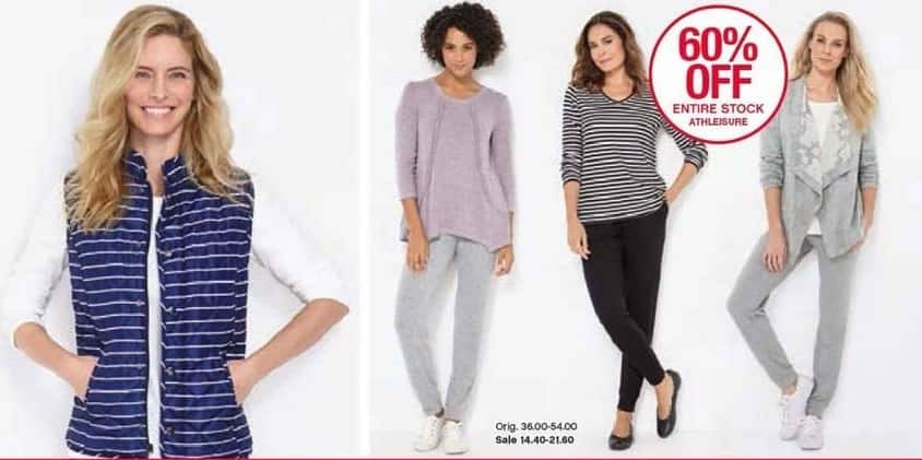Belk Black Friday: Entire Stock of New Directions Athleisure for Her - 60% Off