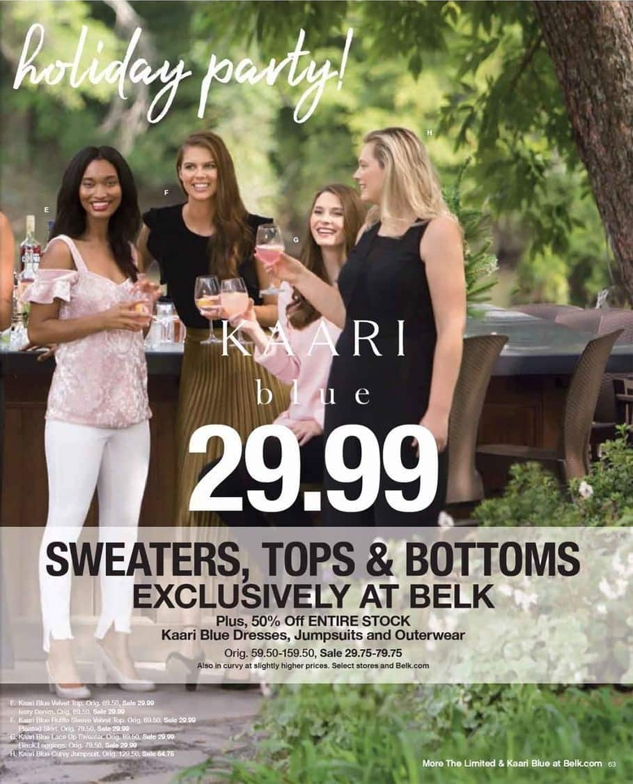 Belk Black Friday: Entire Stock of Kaari Blue Dresses, Jumpsuits & Outerwear - 50% Off