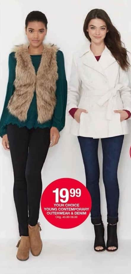 Belk Black Friday: Young Contemporary Outerwear & Denim for Her for $19.99