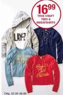 Belk Black Friday: True Craft Tees & Sweatshirts for Her for $16.99