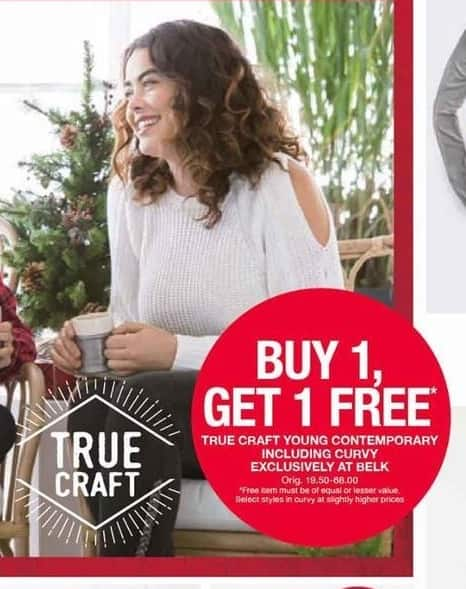 Belk Black Friday: True Craft Young Contemporary Including Curvy - B1G1 Free