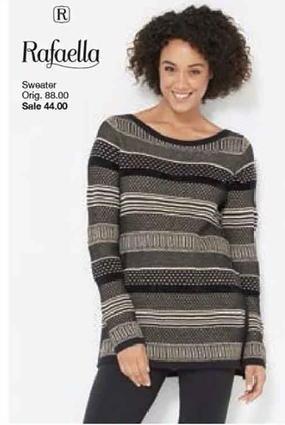 Belk Black Friday: Rafaella Sweater for Her for $44.00