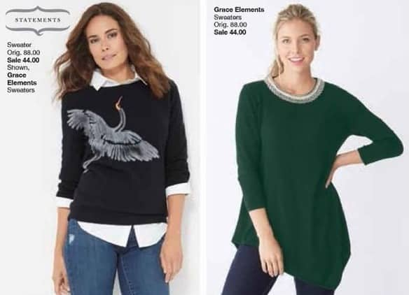 Belk Black Friday: Statements Grace Elements Sweaters for Her for $44.00