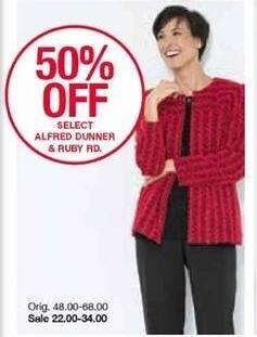 Belk Black Friday: Alfred Dunner & Ruby Rd - Select Styles for $22.00 - $34.00