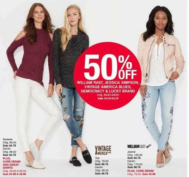 Belk Black Friday: William Rast, Jessica Simpson, Vintage America Blues, Democracy & Lucky Brand for Her - 50% Off