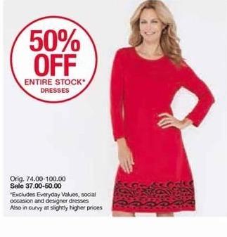 Belk Black Friday: Entire Stock of Dresses - 50% Off