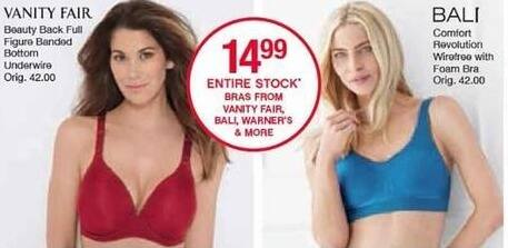 Belk Black Friday: Bali Comfort Revolution Wirefree with Foam Bra for $14.99
