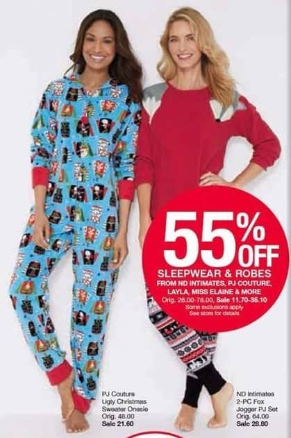 Belk Black Friday: PJ Couture Ugly Christmas Sweater Onesie for $21.60
