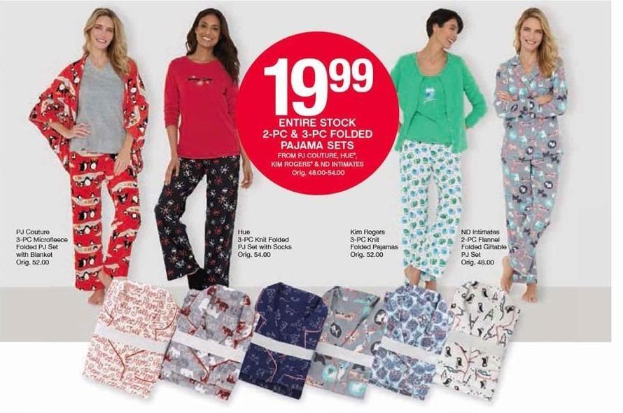 Belk Black Friday: Kim Rogers 3-pc Knit Folded Pajamas for $19.99