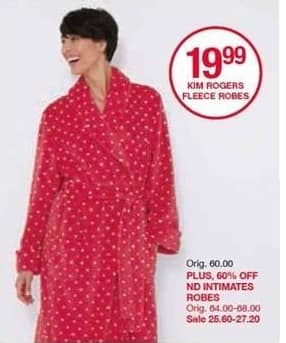 Belk Black Friday: ND Intimates Robes - 60% Off