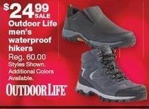 Sears Black Friday: Outdoor Life Men's Waterproof Hikers for $24.99