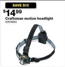 Sears Black Friday: Craftsman Motion Headlight for $14.99