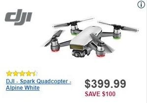 Best Buy Black Friday: DJI Spark Quadcopter Drone for $399.99