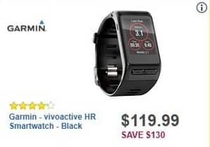 Best Buy Black Friday: Garmin vivoactive HR Smartwatch for $119.99