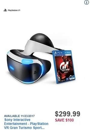 Best Buy Black Friday: Sony Interactive Entertainment - PlayStation VR Gran Turismo Sport Bundle for $299.99