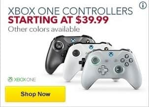 Best Buy Black Friday: Microsoft Xbox One Controllers - $39.99 & Up