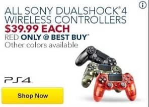 Best Buy Black Friday: All Sony Dualshock 4 Wireless Controllers for $39.99