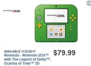 Best Buy Black Friday: Nintendo 2DS with The Legend of Zelda: Ocarina of Time 3D for $79.99