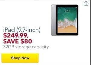 "Best Buy Black Friday: 32GB Apple iPad 9.7"" Tablet for $249.99"