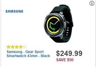 Best Buy Black Friday: Samsung Gear Sport Smartwatch 43mm for $249.99