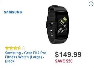 Best Buy Black Friday: Samsung Gear Fit2 Pro Fitness Watch for $149.99