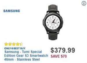 Best Buy Black Friday: Samsung Tumi Special Edition Gear S3 Smartwatch 46mm for $379.99