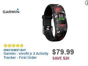 Best Buy Black Friday: Garmin vívofit jr 2 Activity Tracker for $79.99