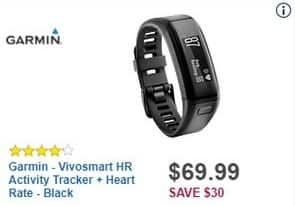 Best Buy Black Friday: Garmin Vivosmart HR Activity Tracker + Heart Rate for $69.99